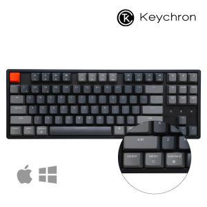 키크론 Keychron K8 알루미늄 RGB 87키 무선 텐키리스 기계식 키보드 맥 애플호환 국내정품