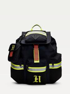 TOMMY HILFIGER LEWIS HAMILTON BACKPACK  Black_Hyper Yellow AM06118