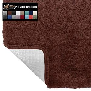 [해외][미국] 709785 Gorilla Grip Original Premium Luxury Bath Rug, 24x17 Inch, Incredibly Soft, Thick, Abs