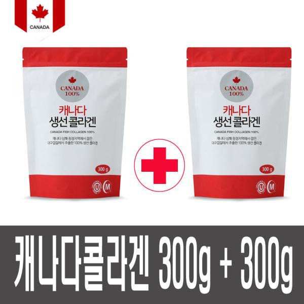 캐나다 생선콜라겐 300g+300g 저분자 콜라겐 100%