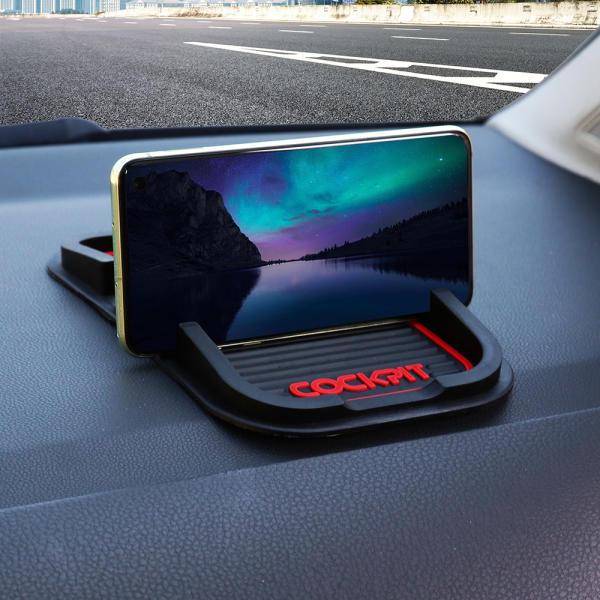 구성 수납+거치대 논슬립패드 2P 핸드폰 차량용 스마트폰 거치대 자동차용품
