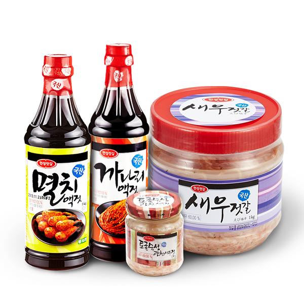 [한성기업] 김장준비 새우젓갈+액젓 골라담기