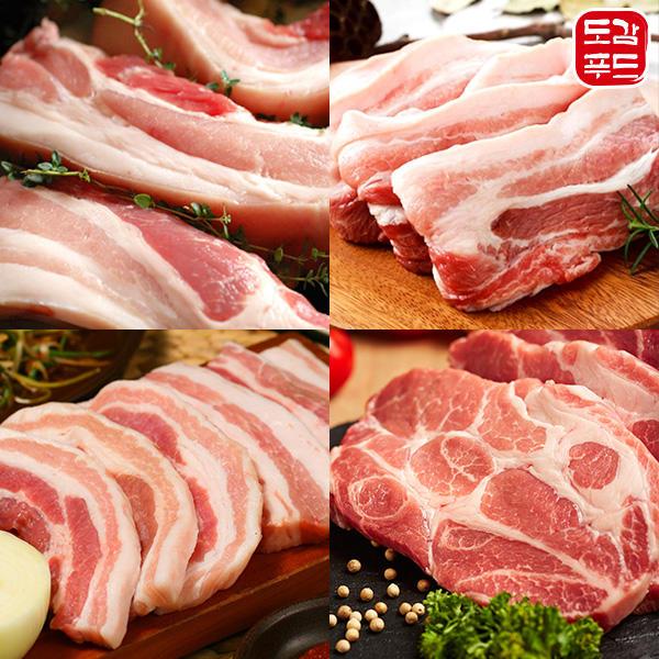 도감푸드 수입산돼지고기/삼겹살/오겹살/목살/국내산목살 500g