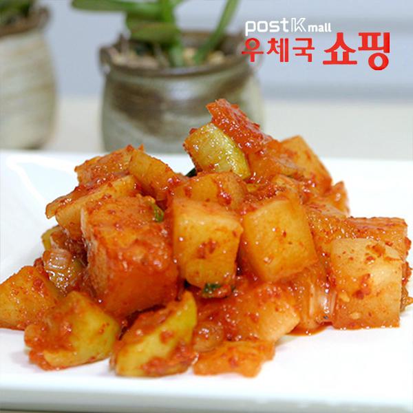 [우체국쇼핑] 충남 태안 담채원 아삭아삭 깍두기/석박지 1kg