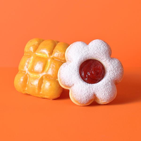 던킨 허니버터 바이츠+버터&딸기 플라워 타르트