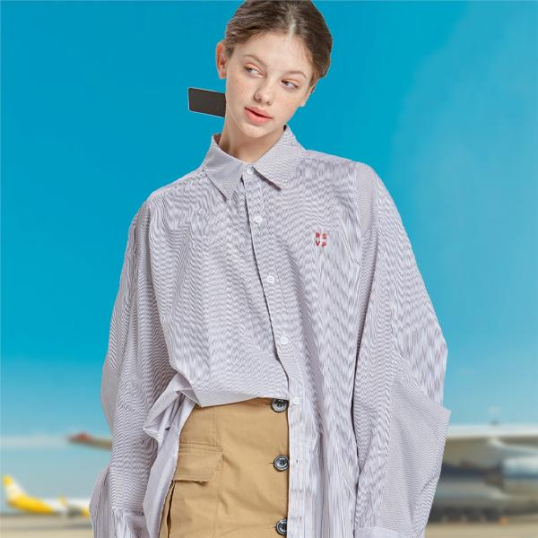 [RSVP] TWO TUCK SLEEVES OVER-FIT SHIRTS_RD