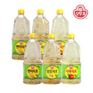 [타임딜] [오뚜기] 양조식초 1.5L x 6개(1박스) 외 사과/현미식초 2종