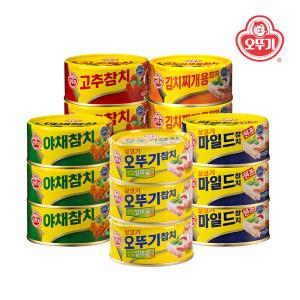 [오뚜기] 살코기/마일드/야채/고추/김치찌개용 참치 150g x 12개 모음전