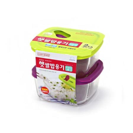 락앤락 오븐글라스 햇쌀밥용기 410ml LLG502 2개