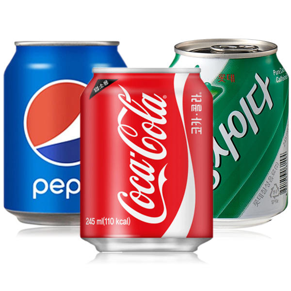 펩시콜라 245ml/사이다/코카콜라/코코팜/음료수