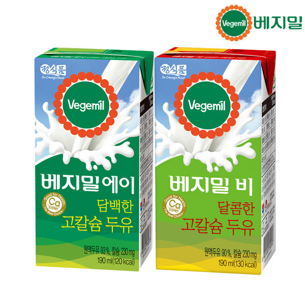 정식품 베지밀 담백한A 달콤한B 고칼슘 검은콩 두유