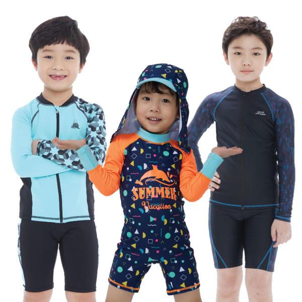 쿠기 초등 아동 유아 남아 주니어 실내 래쉬가드 수영복 비치웨어
